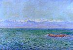 Клод Моне Море и Альпы 1888г