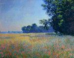 Клод Моне Овсяное и маковое поле, Живерни 1890г