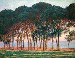 Клод Моне Под сосновыми деревьями. Конец дня 1888г