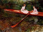 Клод Моне Розовая лодка 1890г