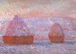 Клод Моне Стога сена в Живерни. Утренний эффект 1889г