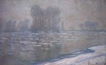 Клод Моне Льдины, туманное утро 1894г