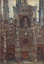 Клод Моне Руанский собор, вечер, гармония в коричневом 1894г