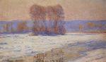 Клод Моне Сена в Бенекуре, Зима 1893г