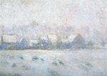 Клод Моне Снежный эффект в Живерни 1893г.