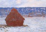 Клод Моне Стог сена в пасмурную погоду, эффект снега 1891г