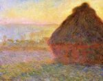 Клод Моне Стог сена на закате 1891г