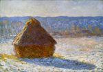 Клод Моне Стог сена утром, эффект снега 1891г