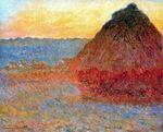 Клод Моне Стог сена,впечатление в розовом и синем 1891г
