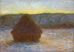Клод Моне Стог сена. Оттепель, закат 1891г