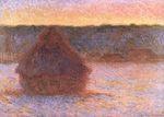 Клод Моне Стога сена на закате, морозная погода 1891г.