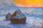Клод Моне Стога сена на закате, эффект снега 1891г