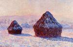 Клод Моне Стога сена утром. Эффект снега 1891г