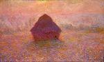 Клод Моне Стога сена, солнце в тумане 1891г