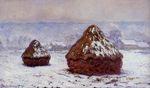 Клод Моне Стога сена. Эффект снега 1891г