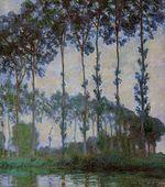 Клод Моне Тополя на берегах Эпте, пасмурная погода 1891г