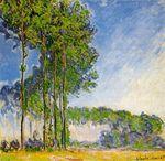Клод Моне Тополя, вид с болота 1892г
