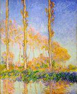 Клод Моне Тополя, осень, розовый эффект 1891г