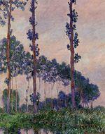 Клод Моне Три дерева в пасмурную погоду 1891г