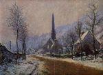 Клод Моне Церковь в Жефоссе, снежная погода 1893г