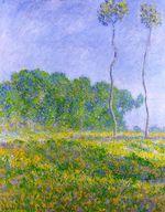 Клод Моне Весенний пейзаж 1894г