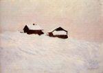 Клод Моне Дома в снегу 1895г