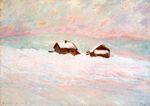 Клод Моне Дома в снегу. Норвегия 1895г