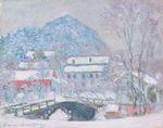 Клод Моне Норвегия, деревня Сандвикен в снегу 1895г