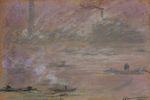 Клод Моне Лодки на Темзе, Лондон 1901г