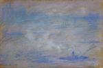 Клод Моне Лодки на Темзе, эффект тумана 1901г