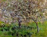 Клод Моне Яблони в цвету в Живерни 1901г
