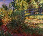 Клод Моне Японский мостик (Пруд с водяными лилиями и тропинка у воды) 1900г