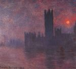 Клод Моне Вестминстерский дворец на закате 1903г