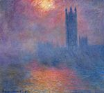 Клод Моне Вестминстерский дворец, Лондон. Пробивается солнце 1904г