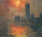 Клод Моне Вестминстерский дворец, закат 1904г