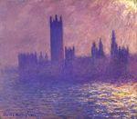 Клод Моне Вестминстерский дворец, эффект солнечного света 1901г