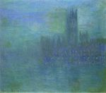 Клод Моне Вестминстерский дворец, эффект тумана 1903г