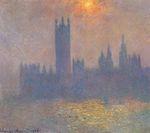 Клод Моне Вестминстерский дворец. Эффект солнечного света в тумане 1904г