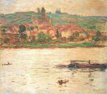 Клод Моне Ветёй, баржа на Сене 1902г