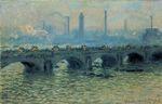 Клод Моне Мост Ватерлоо, пасмурная погода 1903г