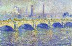 Клод Моне Мост Ватерлоо, эффект солнца 1903г