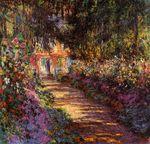 Клод Моне Тропинка в саду Моне, Живерни 1902г