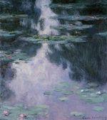 Клод Моне Водяные лилии (Нимфеи) 1907г 81х92cm Museum of Fine Arts, Houston, TX, USA