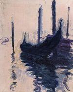 Клод Моне Гондола в Венеции 1908г