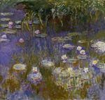 Клод Моне Водяные лилии, желтые и лиловые 1917г