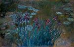 Клод Моне Ирисы и водяные лилии 1917г