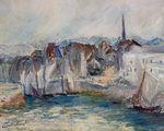 Клод Моне Лодки в порту Онфлёра 1917г