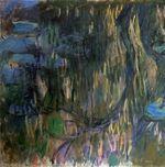 Клод Моне Водяные лилии, отражение плакучей ивы (левая половина) 1919г