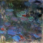Клод Моне Водяные лилии, отражение плакучей ивы (правая половина) 1919г