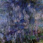 Клод Моне Водяные лилии, отражение плакучей ивы 1919г
